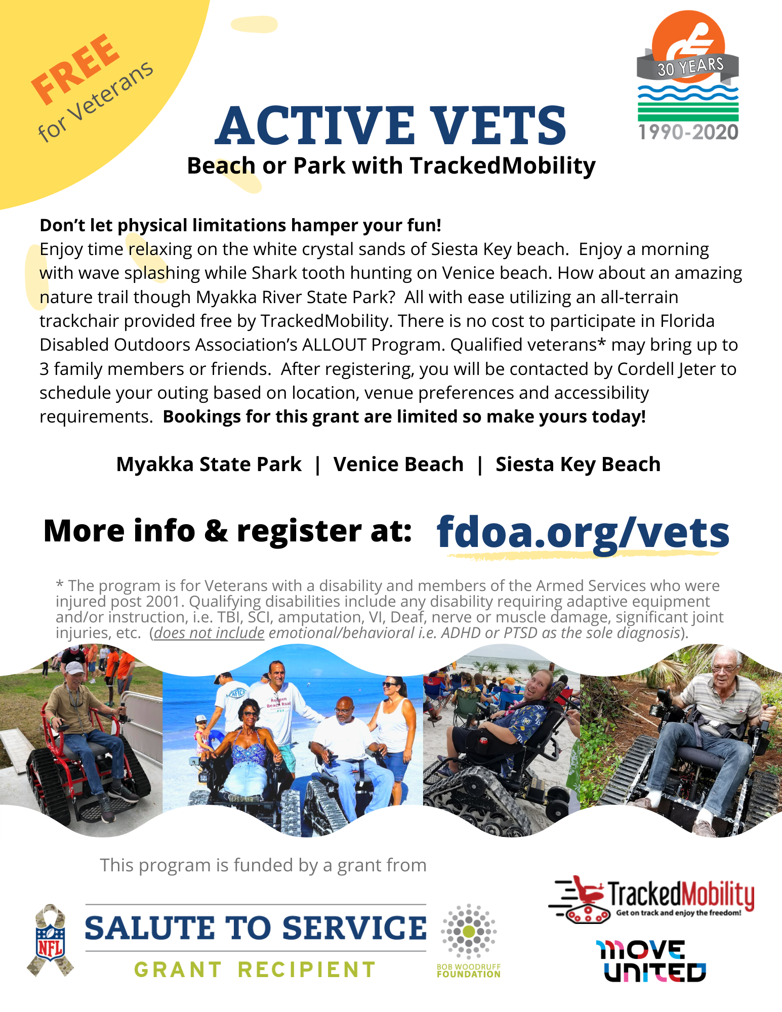 image of Active Vets - Beach and Park Adventure with TrackedMobility