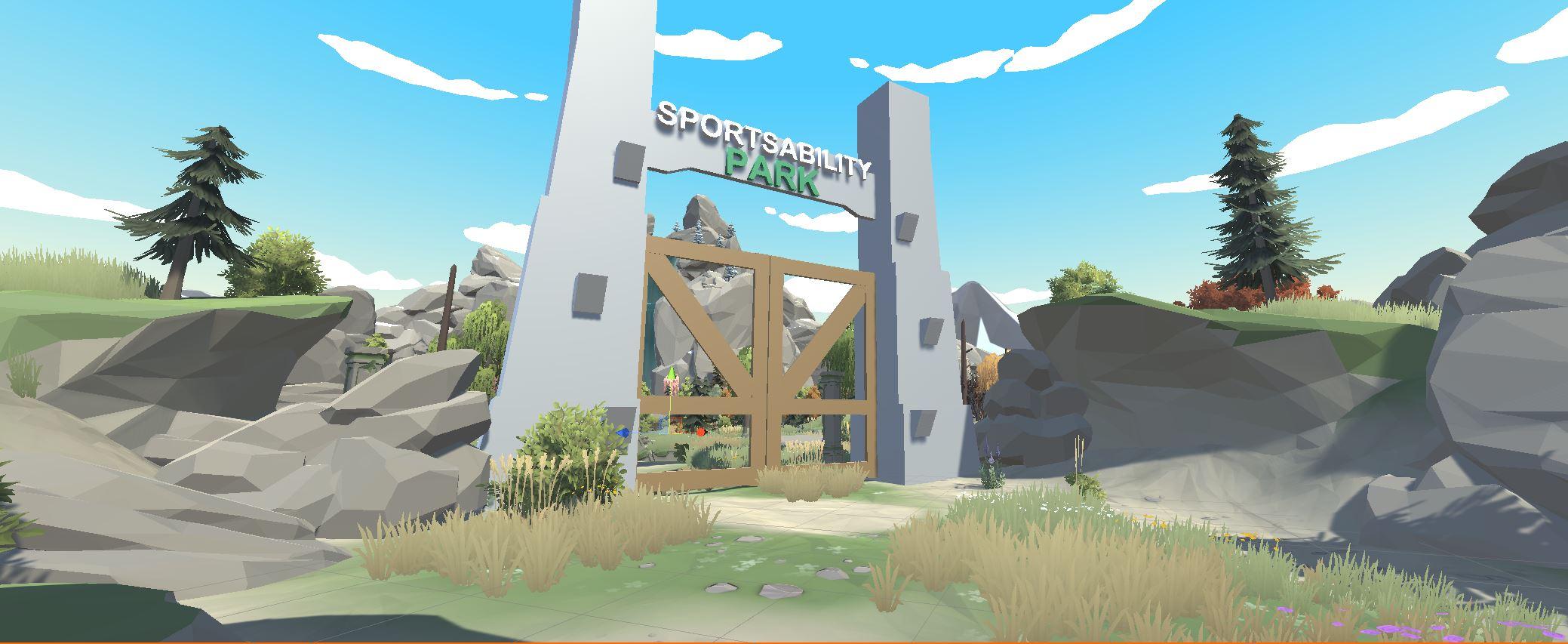 Image of SportsAbility VR Park entrance gate