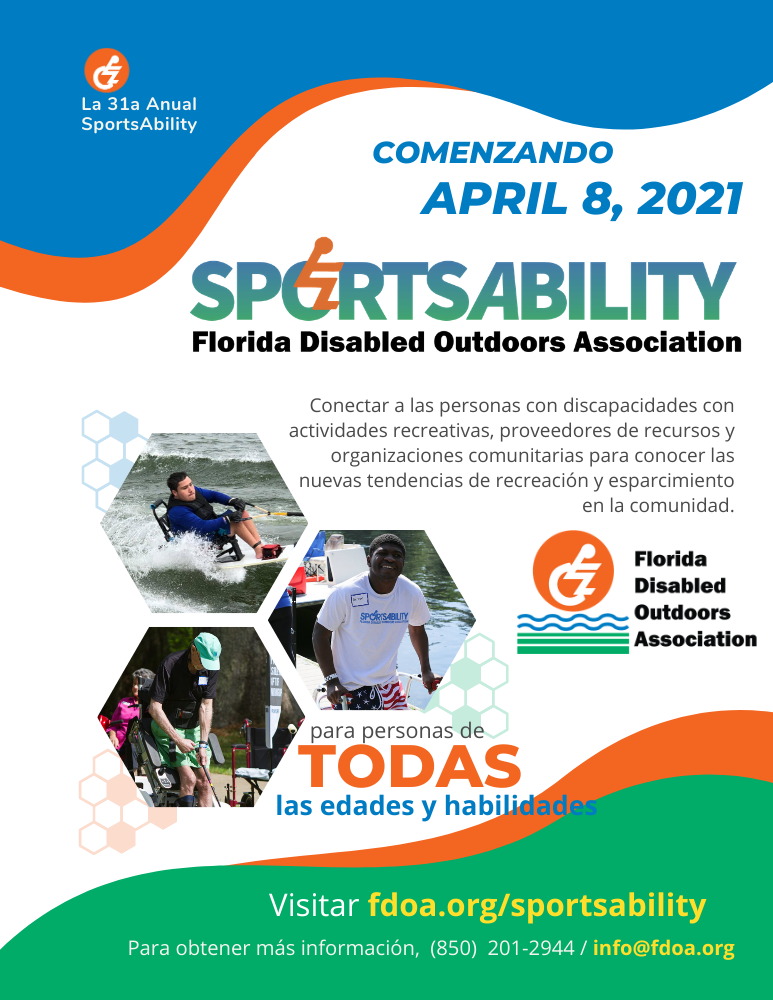 SportsAbility 2021 Flyer in Spanish