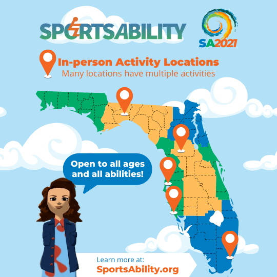 image of SportsAbility activities map